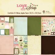 Kit Coordenado - Coleção Love Scrap / JuJu Scrapbook