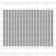 Carimbo Modelo Estampa Folhas - Coleção Love Scrap / JuJu Scrapbook