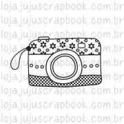 Carimbo Câmera Florida - Coleção Love Scrap - JuJu Scrapbook