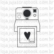 Carimbo Modelo Polaroid Love - Coleção Picnic / JuJu Scrapbook