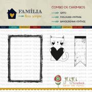 Combo de Carimbos Modelo Gato - Coleção Família para Sempre / JuJu Scrapbook