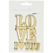 Wooden Flourishes - Love You / Kaiser Craft