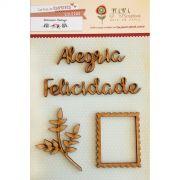 Cartela de Enfeites - Modelo Alegria - Coleção Botânica Vintage / Juju Scrapbook