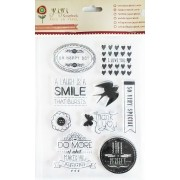 Cartela de Carimbos em Silicone - Modelo Life is Perfect -  Juju Scrapbook