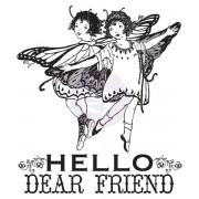 Clear Stamps  - Prima Marketing - Hello Dear Friend