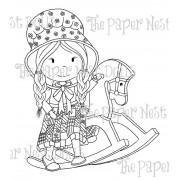 Carimbo Paper Nest Dolls - Modelo Rocking Horse Ellie