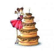 Carimbo Stamping Bella - Modelo Bianca loves her Big Cake