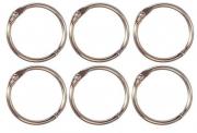 Argolas Articuladas em Metal 2,5 cm - Prata | JuJu Scrapbook