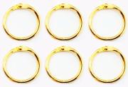 Argolas Articuladas em Metal 2cm - Dourada / Juju Scrapbook
