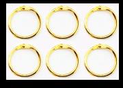 Argolas Articuladas em Metal 3,5 cm - Dourada| JuJu Scrapbook