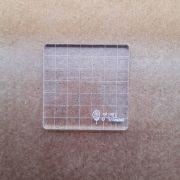 Base Acrílica para Carimbo - 7 cm X 7 cm / JuJu Scrapbook