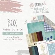 Box Scrap Minuto Clube Brasil -Juju Scrapbook