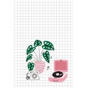 Caderno Vitrolinha - Scrap Minuto - Coleção Espalhando Amor / Juju Scrapbook