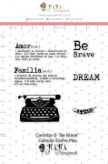 Carimbo G Be Brave - Coleção Sonho Meu - JuJu Scrapbook
