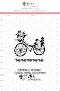 Carimbo G Bicicleta - Coleção Felizes para Sempre - JuJu Scrapbook