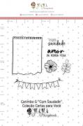 Carimbo G Com Saudade - Coleção Cartas para Você - JuJu Scrapbook