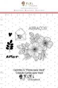 Carimbo G Flores para Você - Coleção Cartas para Você - JuJu Scrapbook