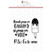 Carimbo G P.S.: Eu te Amo - Coleção Espalhando Amor - JuJu Scrapbook
