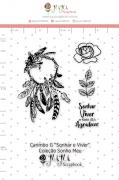 Carimbo G Sonhar e Viver - Coleção Sonho Meu - JuJu Scrapbook