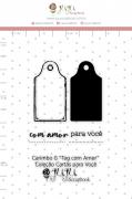 Carimbo G Tag com Amor - Coleção Cartas para Você - JuJu Scrapbook