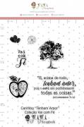 Carimbo G Tenham Amor - Coleção Vai com Fé - JuJu Scrapbook