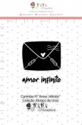 Carimbo M Amor Infinito - Coleção Abraço de Urso - JuJu Scrapbook
