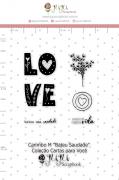 Carimbo M Bateu Saudade - Coleção Cartas para Você - JuJu Scrapbook