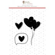 Carimbo M Corações - Coleção Abraço de Urso - JuJu Scrapbook