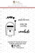 Carimbo M Correio de Amor - Coleção Cartas para Você - JuJu Scrapbook