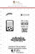 Carimbo M Dê seu Melhor - Coleção Quarentena Criativa - Juju Scrapbook