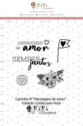 Carimbo M Mensagens de Amor - Coleção Cartas para Você - JuJu Scrapbook