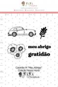 Carimbo M Meu Abrigo  - Coleção Nosso Herói - JuJu Scrapbook