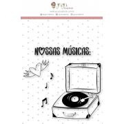 Carimbo M Nossas Músicas - Coleção Espalhando Amor - JuJu Scrapbook