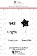 Carimbo M Palavras de Amor - Coleção Vai com Fé - JuJu Scrapbook