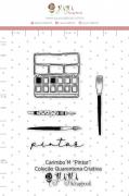 Carimbo M Pintar - Coleção Quarentena Criativa - Juju Scrapbook