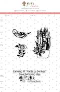 Carimbo M Plante Sonhos - Coleção Sonho Meu - JuJu Scrapbook