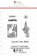 Carimbo M Positividade - Coleção Quarentena Criativa - Juju Scrapbook