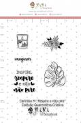 Carimbo M Respire e Não Pire - Coleção Quarentena Criativa - Juju Scrapbook