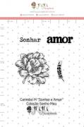 Carimbo M Sonhar e Amar - Coleção Sonho Meu - JuJu Scrapbook