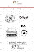 Carimbo M Sorria e Curta! - Coleção Quarentena Criativa - Juju Scrapbook
