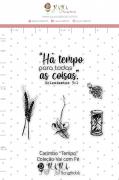 Carimbo M Tempo - Coleção Vai com Fé - JuJu Scrapbook