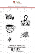 Carimbo M Vamos Criar - Coleção Quarentena Criativa - Juju Scrapbook