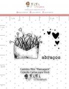 Carimbo Mini Mensagem - Coleção Cartas para Você - JuJu Scrapbook