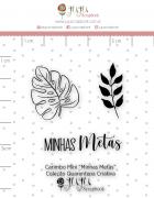Carimbo Mini Minhas Metas - Coleção Quarentena Criativa - Juju Scrapbook