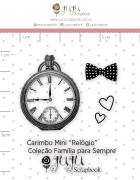 Carimbo Mini Relógio - Coleção Família para Sempre - JuJu Scrapbook