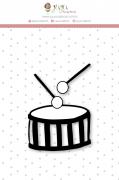 Carimbo Mini Tamborzinho - Coleção Mundo Mágico - JuJu Scrapbook