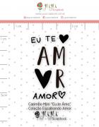 Carimbo Mini Te Amo - Coleção Espalhando Amor - JuJu Scrapbook