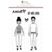 Carimbo XG Casal - Coleção Espalhando Amor - Juju Scrapbook