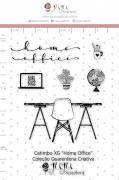 Carimbo XG Home Office - Coleção Quarentena Criativa - Juju Scrapbook
