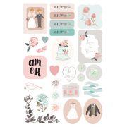 Adesivo Dia dos Noivos - Coleção Felizes Para Sempre - JuJu Scrapbook